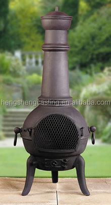 outdoor cast iron chimeneas