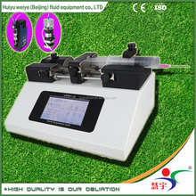 China accruate micro volume 10ul 100ul 1ml 10ml AC 110V 220V 230V touch screen RS485 laboratory medical injection syringe pump