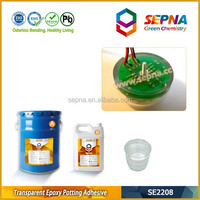 SE2208 Solvent-free no by-products clear liquid epoxy resin used in intelligent water meter protection potting