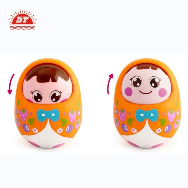 custom design plastic roly poly dolls