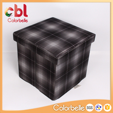 Promotional Non-woven Fabrics Wooden Storage Box with Lid