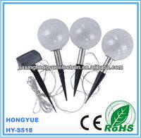 outside solar lamp Hot sale warm white LED solar glass ball light for garden decoration