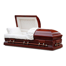 Good funeral home furniture china import direct cheap wooden dual cover casket coffin