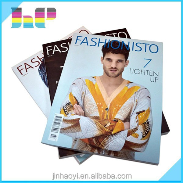 hot sale cheap price soft cover cloth/men magazine book printing in China