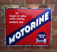 MOTORINE porcelain sign ,enamel coating hanging board