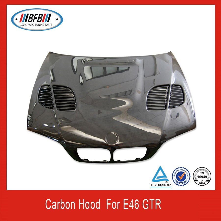 Carbon fiber engine hood /auto hood /carbon hood cover for e46 GTR