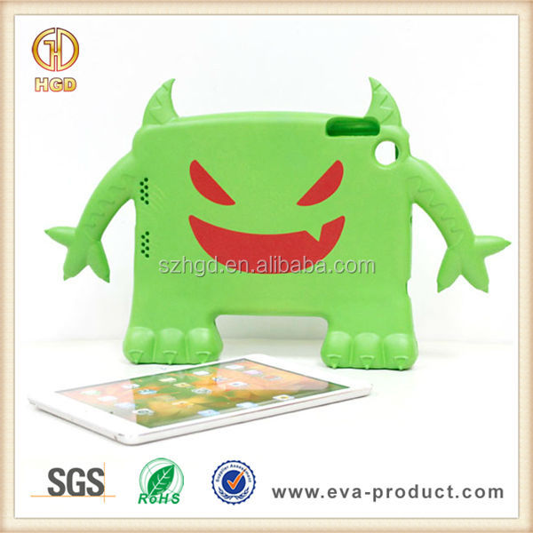 Lovely demon shape children safe rubber protector case for ipad mini tablet pc