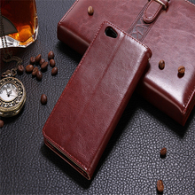 Classic Design PU Flip Wallet Mobile Case Covers For VIVO Y55 Leather Phone Cases