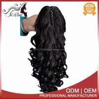 Top quality synthetic curly claw clip ponytail hair extension, miss rola hair extensions