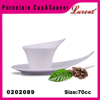 wholesale high qualitylow price unique shape coffee cup and saucer set