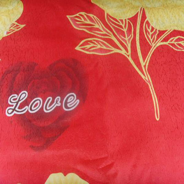 red love cheap commonprinted woven latex mattress ticking fabric/memory pillow case fabic for bedroom branch made in china