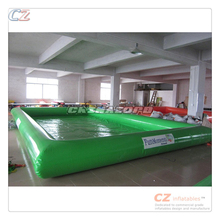 Customized logo painted inflatable pool rental business