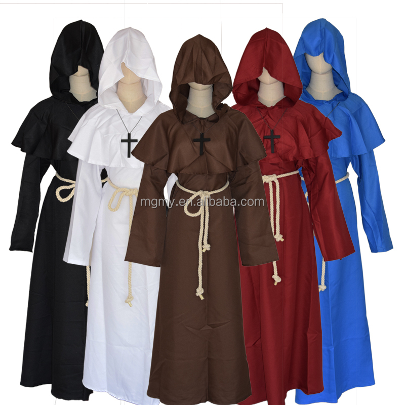 Selling Halloween costumes Medieval monk conviction The godsworn robe