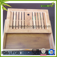 2 Compartments High Quality Custom Bamboo Tea Tray