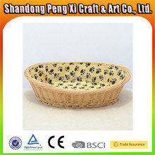 Wholesale oval wicker pet cat bed basket from China