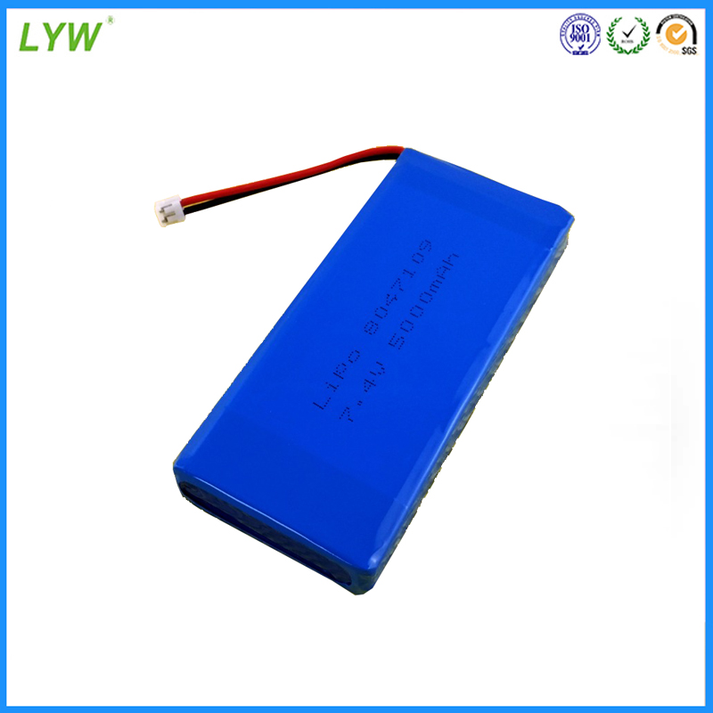 rechargeable li ion battery pack li-ion polymer battery 7.4v 5000mah