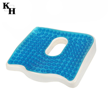 Anti bedsore orthopedic cooling gelly foam seat cushion