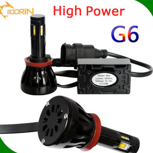 2017 No fans head light for cars & motorcycles & bus 6000k white all in one led headlight fanless h11 9005 9006 h13 auto led
