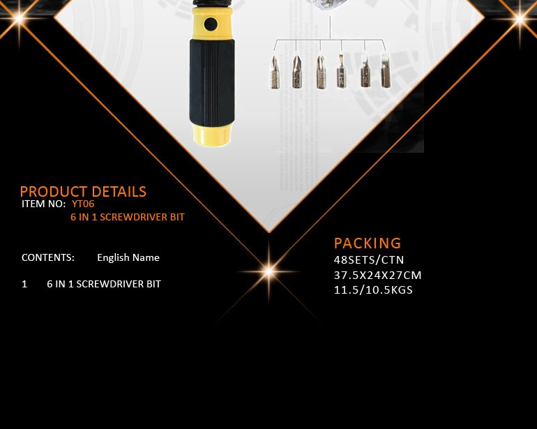 2016 Promotional 6 in 1 Multi-functional Torque Screwdriver