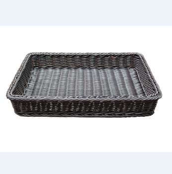 2017 Factory wholesale high quality sturdy new plastic rattan storage basket