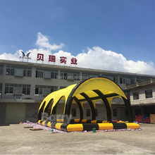 Yellow large pool archway inflatable shelter tent price China