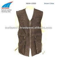 Hunting Shooting Leather Vests, Leather Shooting Vest, Leather Hunting Vests