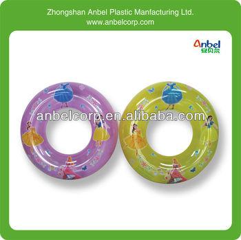 princess pattern plastic swim ring for buy plastic