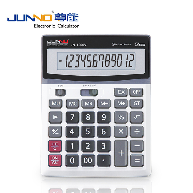 Solar Power Digital Electronic Office Calculator with large display and plastic key