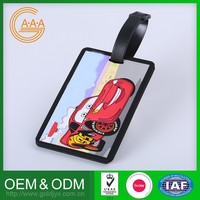 Most Popular Customized Oem Silicone Travel Tag High Quality Custom Waterproof Soft Pvc Luggage Tags