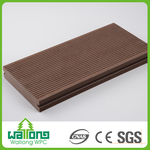 High level material good textured solid plastic wood composite sheet