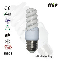 high quality mini full spiral 13W T2 E27 6500K energy saving bulb factory