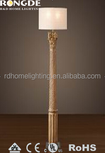 Newest special big wood floor lamp