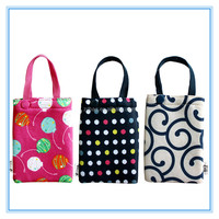 foldable bag with pouch,folding nylon tote bag,printed folding bag