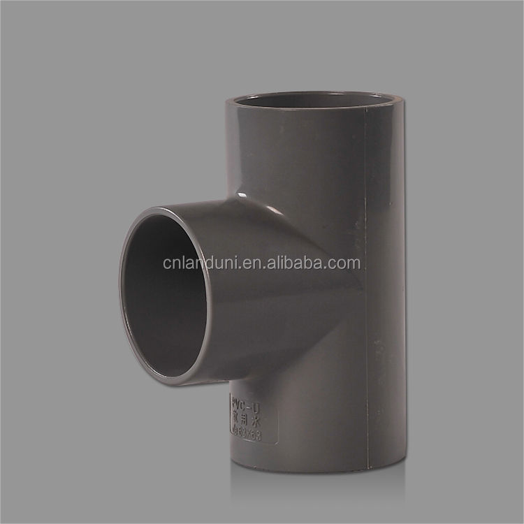 High Quality Pipe Fitting 400mm PVC Fitting Equal Tee for Water Supply