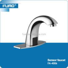 FUAO Brass Chromed Bathroom Wash Basin Automatic Sensor Faucet