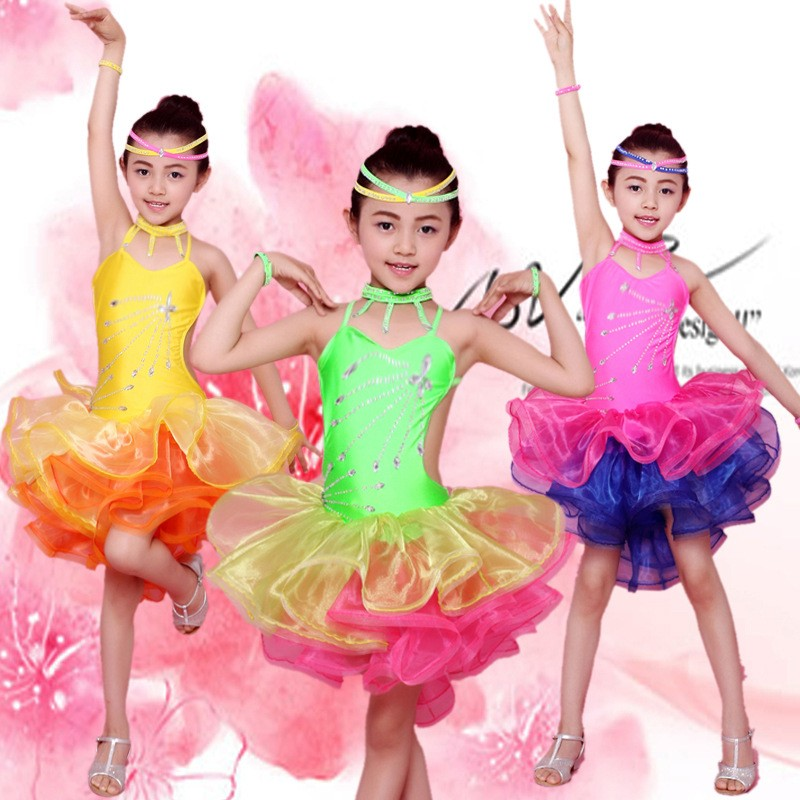 Cheap Latin American Dancing Evening Dresses For Kids Girls Of Online
