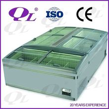 Commercial display chiller and Freezer OEM factory island freezer for store