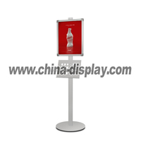 double sided water base pavement sign poster stand 4 tier candy display rack