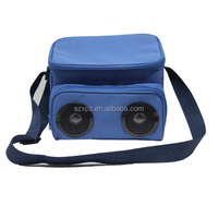 High quality insulated lunch bag, bluetooth speaker cooler bag
