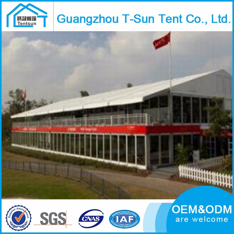 Custom Any Design Wood Flooring Double Decker Tents Office Building A Shape Commercial Tent
