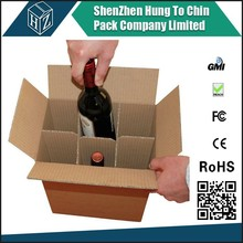 China supplier security protect carton packaging wine shipping box