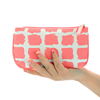 heat transfer printing fashion PU/ leather cosmetic bag travel accessories bag
