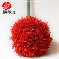 140190 artificial daffodil flower ball for ikebana and wedding decoration red hanging flower ball