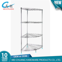4 tiered standing corner shelf for living room