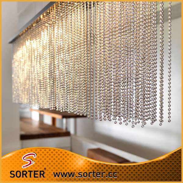 Special Metal Beaded Drapery/Metal Mtring Curtain for home decoration