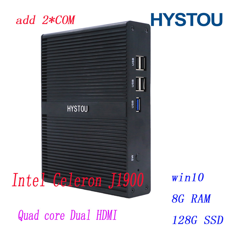 Celeron mini computers Intel CeleronJ1900 Barebone bracket Fanless mini PC 2COM 12V HDMI VGA