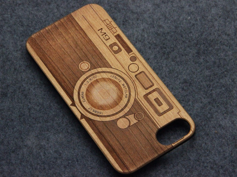 Wooden phone case with pc, wooden bamboo laser custom logo for iphone 7