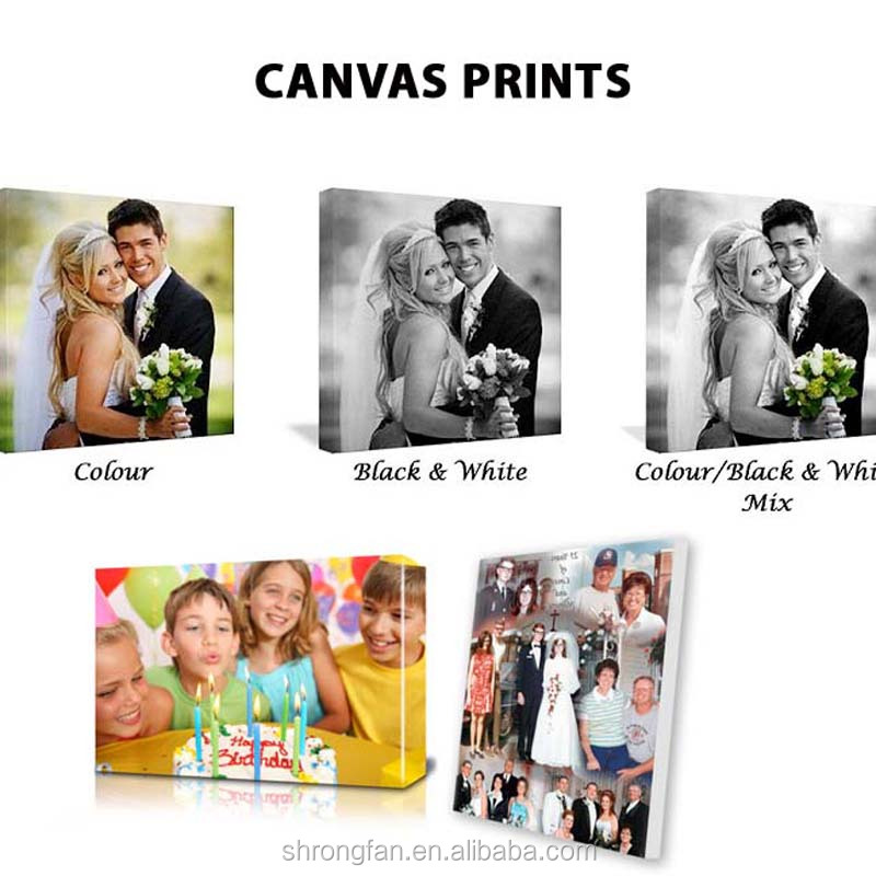 Canvas Printing Art Customized Digital Photography Canvas Printing For Wedding