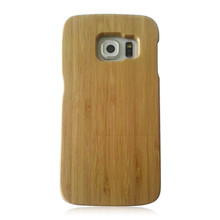 Blank wood cell phone cover real bamboo wood case friendly personalized wooden phone hull for Samsung S6 edge