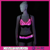 2015 sexy costumes/ bra and short pants with led bag